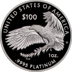 "2018 W Eagle ""Life"" P$100 PF reverse"