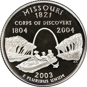 2003 S CLAD MISSOURI 25C PF reverse