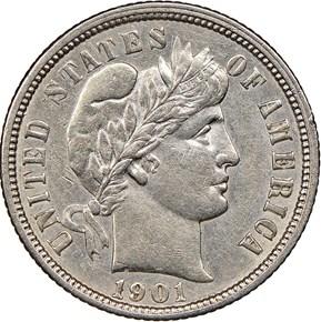 1901 O 10C MS obverse