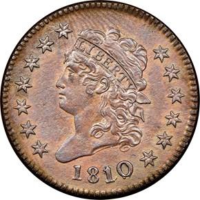 1810/09 S-281 1C MS obverse