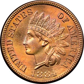 1884 1C MS obverse