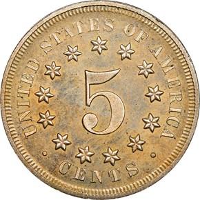 1867 NO RAYS 5C PF reverse