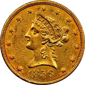 1856 O $10 MS obverse