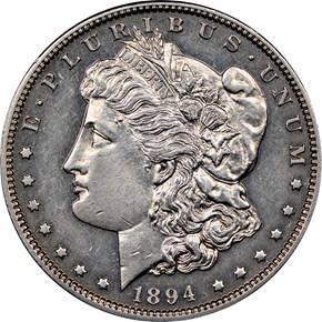 1894 $1 PF obverse