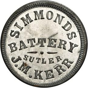 (1861-65) KY S-1-50Z J.M. KERR SUTLER MS obverse