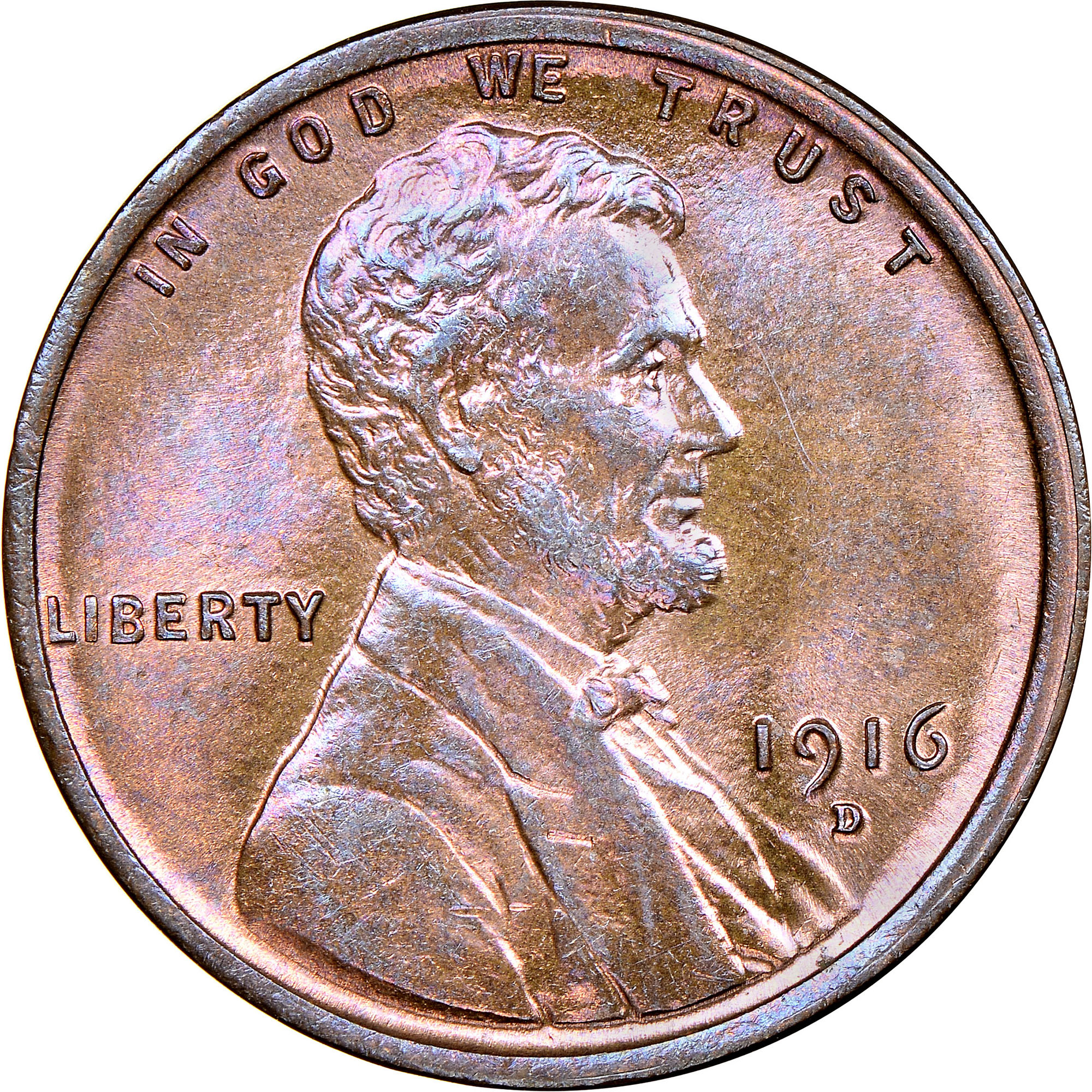 VF Uncertified 1916-D Lincoln Cent