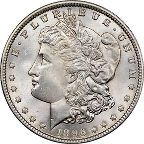 1896 $1 MS obverse