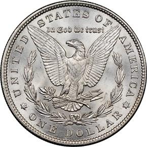 1896 $1 MS reverse