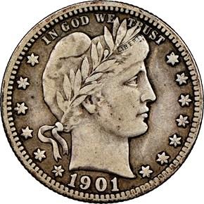 1901 S 25C MS obverse
