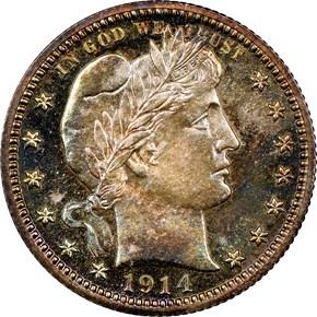 1914 25C PF obverse