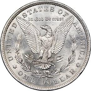 1883 O $1 MS reverse