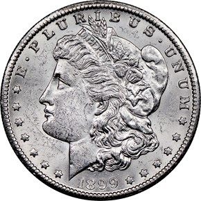 1899 O $1 MS obverse