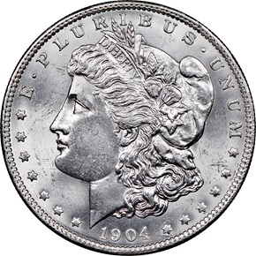 1904 O $1 MS obverse