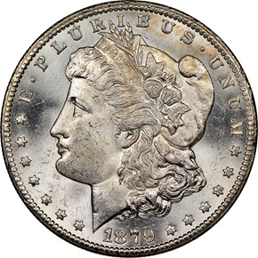 1879 CC $1 MS obverse