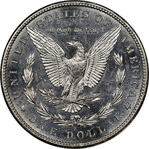 1895 S $1 MS reverse
