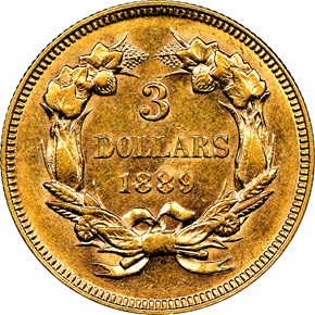 1889 $3 MS reverse