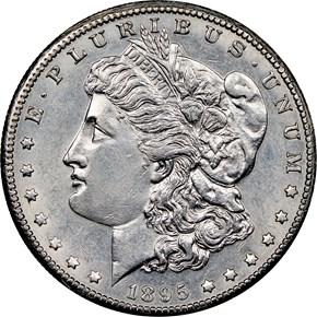 1895 O $1 MS obverse
