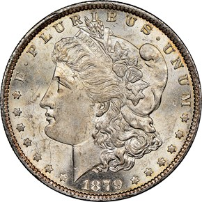 1879 O $1 MS obverse