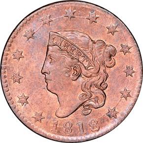 1818 1C MS obverse