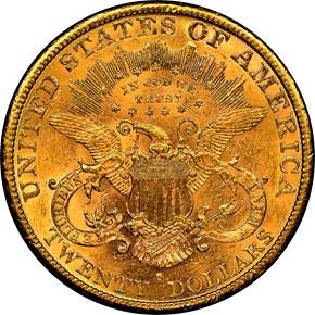 1883 S $20 MS reverse