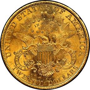 1896 S $20 MS reverse
