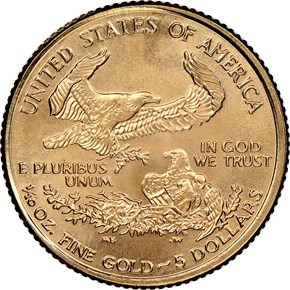 2000 EAGLE G$5 MS reverse