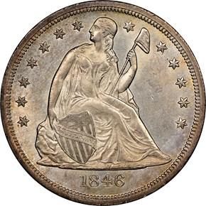 1846 O $1 MS obverse