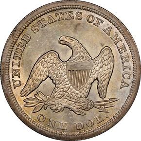 1846 O $1 MS reverse