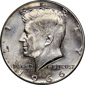 1966 50C MS obverse
