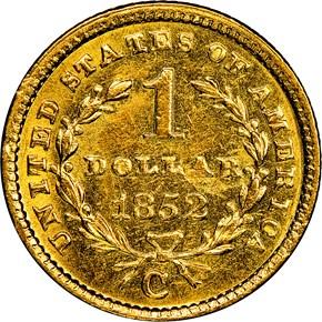 1852 C G$1 MS reverse