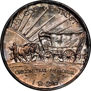 1926 S OREGON TRAIL 50C MS reverse
