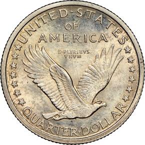 1917 TYPE 1 25C MS reverse