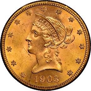1903 S $10 MS obverse