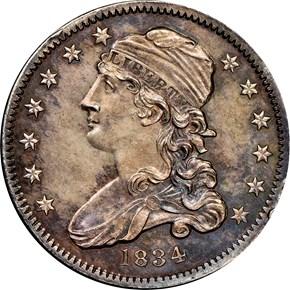 1834 25C MS obverse