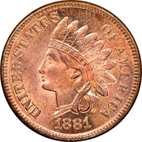 1881 1C MS obverse