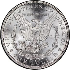 1885 S $1 MS reverse