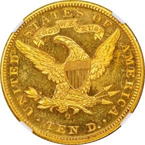 1894 O $10 PF reverse