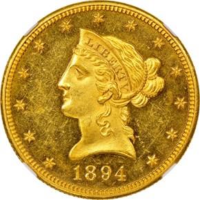 1894 O $10 PF obverse