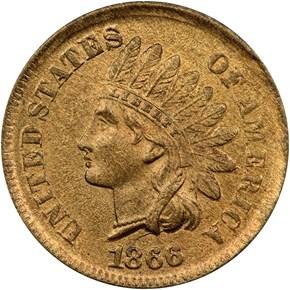 1866 1C MS obverse