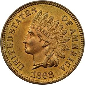 1868 1C MS obverse