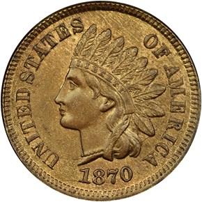 1870 1C MS obverse