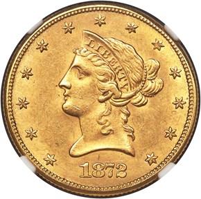 1872 CC $10 MS obverse