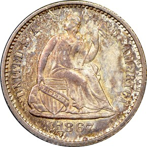 1867 H10C MS obverse