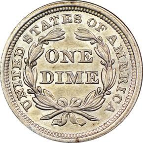 1842 10C MS reverse