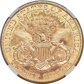 1900 $20 SP reverse