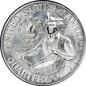 1776-1976 S SILVER 25C MS reverse
