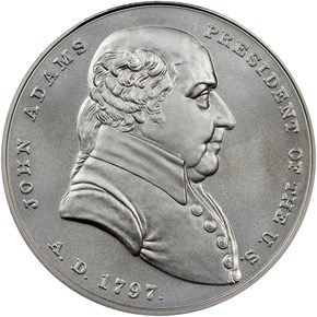(2018)1oz Silver John Adams Medal MS obverse