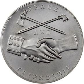 (2018)1oz Silver John Adams Medal MS reverse