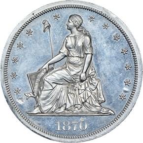 1870 J-1006 S$1 PF obverse