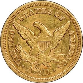 1856 C $2.5 MS reverse